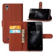 GSMWise Huawei P10 - PU lederen TPU Portemonnee hoesje met Kaarthouder Lychee - Bruin