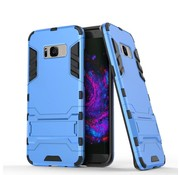 GSMWise Samsung Galaxy S8 Plus - Ultra Hybride Hardcase Hoesje met standaard - Aqua Blauw