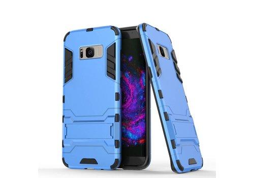 Samsung Galaxy S8 Plus - Ultra Hybride Hardcase Hoesje met standaard - Aqua Blauw