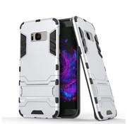 GSMWise Samsung Galaxy S8 Plus - Ultra Hybride Hardcase Hoesje met standaard - Zilver