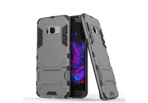Samsung Galaxy S8 Plus - Ultra Hybride Hardcase Hoesje met standaard - Grijs