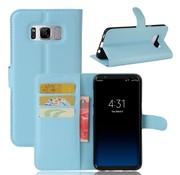 GSMWise Samsung Galaxy S8 Plus - PU lederen TPU Portemonnee hoesje met Kaarthouder Lychee - Blauw
