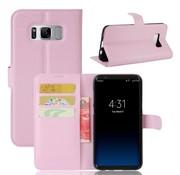GSMWise Samsung Galaxy S8 Plus - PU lederen TPU Portemonnee hoesje met Kaarthouder Lychee - Roze