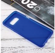 GSMWise Samsung Galaxy S8 Zachte Frosted TPU Hoesje Anti-slip Back Case - Mat Blauw