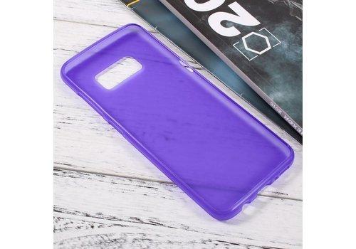 Samsung Galaxy S8 Zachte Frosted TPU Hoesje Anti-slip Back Case - Mat Paars