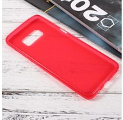GSMWise Samsung Galaxy S8 Zachte Frosted TPU Hoesje Anti-slip Back Case - Mat Rood