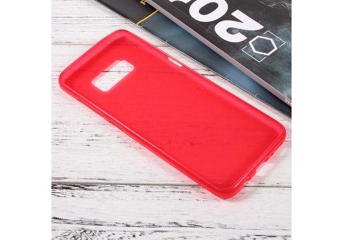 Samsung Galaxy S8 Zachte Frosted TPU Hoesje Anti-slip Back Case - Mat Rood