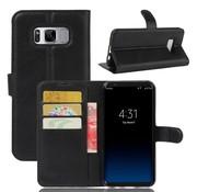 GSMWise Samsung Galaxy S8 PU lederen TPU Portemonnee hoesje met Kaarthouder Lychee - Zwart