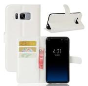 GSMWise Samsung Galaxy S8 PU lederen TPU Portemonnee hoesje met Kaarthouder Lychee - Wit