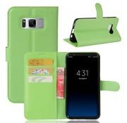 GSMWise Samsung Galaxy S8 PU lederen TPU Portemonnee hoesje met Kaarthouder Lychee - Groen