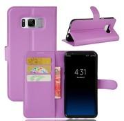 GSMWise Samsung Galaxy S8 PU lederen TPU Portemonnee hoesje met Kaarthouder Lychee - Paars