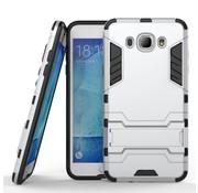 GSMWise Samsung Galaxy J7 (2016) Hybride Hardcase Stevig Hoesje met standaard - Zilver