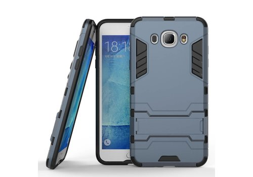 Samsung Galaxy J7 (2016) Hybride Hardcase Stevig Hoesje met standaard - Donker Blauw
