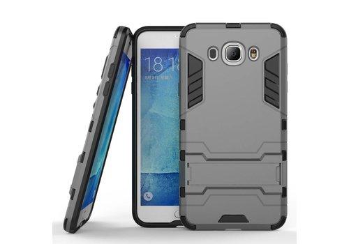 Samsung Galaxy J7 (2016) Hybride Hardcase Stevig Hoesje met standaard - Grijs