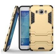 GSMWise Samsung Galaxy J7 (2016) Hybride Hardcase Stevig Hoesje met standaard - Goud