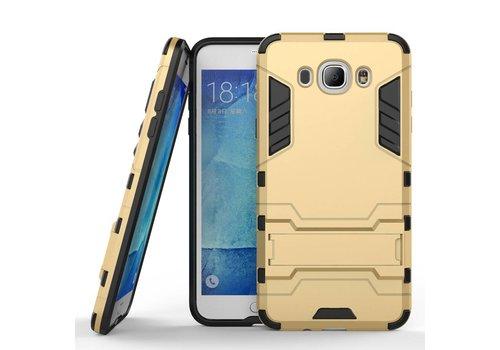 Samsung Galaxy J7 (2016) Hybride Hardcase Stevig Hoesje met standaard - Goud