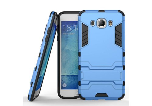 Samsung Galaxy J7 (2016) Hybride Hardcase Stevig Hoesje met standaard - Blauw
