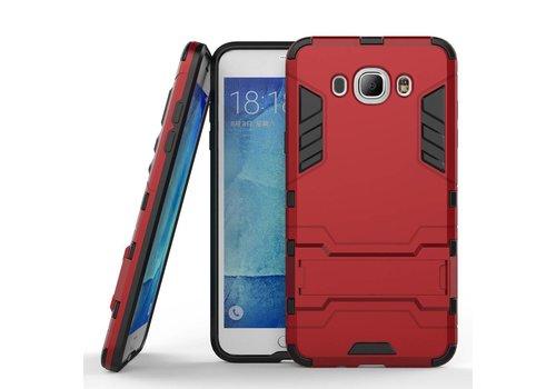 Samsung Galaxy J7 (2016) Hybride Hardcase Stevig Hoesje met standaard - Rood