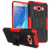 GSMWise Samsung Galaxy J7 (2016) Ultra Hybride Hardcase Stevig Hoesje met standaard - Rood