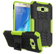 GSMWise Samsung Galaxy J7 (2016) Ultra Hybride Hardcase Stevig Hoesje met standaard - Groen