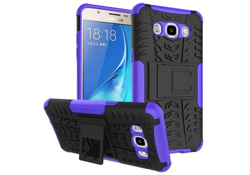 Samsung Galaxy J7 (2016) Ultra Hybride Hardcase Stevig Hoesje met standaard - Paars