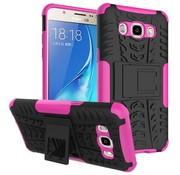 GSMWise Samsung Galaxy J7 (2016) Ultra Hybride Hardcase Stevig Hoesje met standaard - Magenta Hot Pink