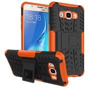 GSMWise Samsung Galaxy J7 (2016) Ultra Hybride Hardcase Stevig Hoesje met standaard - Oranje