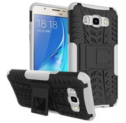 GSMWise Samsung Galaxy J7 (2016) Ultra Hybride Hardcase Stevig Hoesje met standaard - Wit