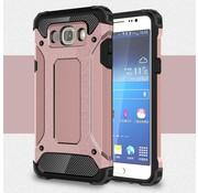 GSMWise Samsung Galaxy J7 (2016) Stevig Hybride Beschermhoesje met Aluminium Backcover Shockproof - Rose Goud