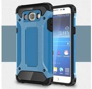 GSMWise Samsung Galaxy J7 (2016) Stevig Hybride Beschermhoesje met Aluminium Backcover Shockproof - Licht Blauw