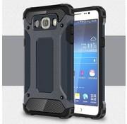 GSMWise Samsung Galaxy J7 (2016) Stevig Hybride Beschermhoesje met Aluminium Backcover Shockproof - Donker Blauw