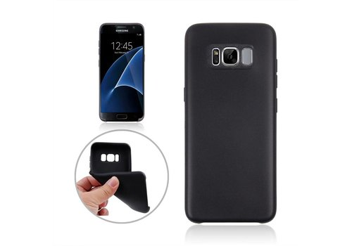Samsung Galaxy S8 Plus - Zachte TPU Hoesje Anti-slip Back Case - Zwart