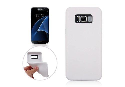 Samsung Galaxy S8 Plus - Zachte TPU Hoesje Anti-slip Back Case - Wit