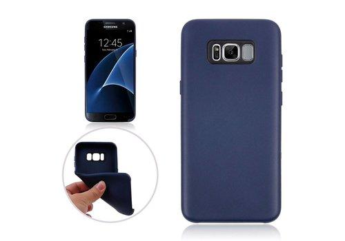 Samsung Galaxy S8 Plus - Zachte TPU Hoesje Anti-slip Back Case - Donker Blauw