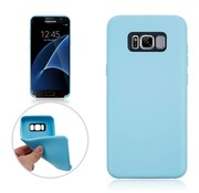 GSMWise Samsung Galaxy S8 Plus - Zachte TPU Hoesje Anti-slip Back Case - Aqua Blauw Hemelsblauw