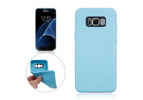 Samsung Galaxy S8 Plus - Zachte TPU Hoesje Anti-slip Back Case - Aqua Blauw Hemelsblauw