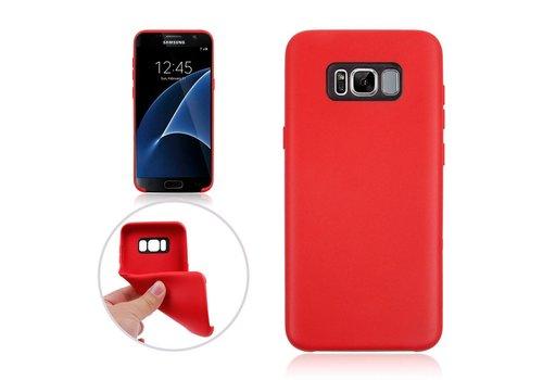 Samsung Galaxy S8 Plus - Zachte TPU Hoesje Anti-slip Back Case - Rood