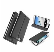 GSMWise Huawei P10 Plus - PU lederen Bookcase Hoesje met Kaarthouder - Zwart