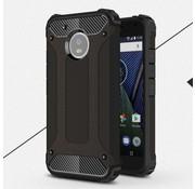 GSMWise Motorola Moto G5 - Stevig Hybride Beschermhoesje met Aluminium Backcover Shockproof - Zwart