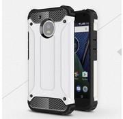 GSMWise Motorola Moto G5 - Stevig Hybride Beschermhoesje met Aluminium Backcover Shockproof - Wit