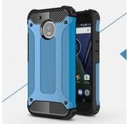 GSMWise Motorola Moto G5 - Stevig Hybride Beschermhoesje met Aluminium Backcover Shockproof - Blauw