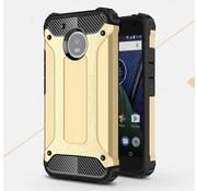 GSMWise Motorola Moto G5 - Stevig Hybride Beschermhoesje met Aluminium Backcover Shockproof - Goud