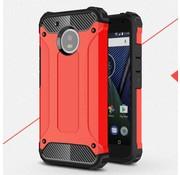 GSMWise Motorola Moto G5 - Stevig Hybride Beschermhoesje met Aluminium Backcover Shockproof - Rood