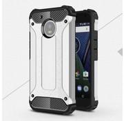 GSMWise Motorola Moto G5 - Stevig Hybride Beschermhoesje met Aluminium Backcover Shockproof - Zilver