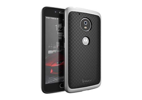 Motorola Moto G5 - Hybride TPU Backcase Hardcase Stevig Hoesje - Zilver