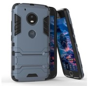 GSMWise Motorola Moto G5 - Hybride Hardcase Stevig Hoesje met Standaard - Donker Blauw