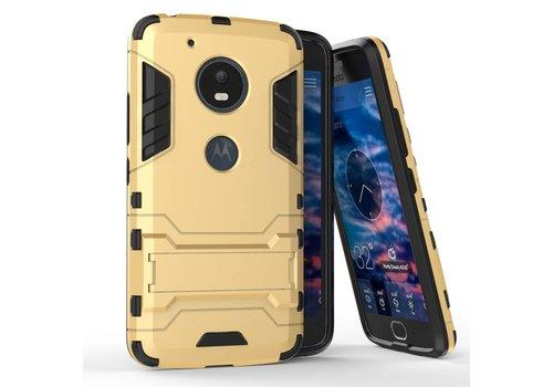 Motorola Moto G5 - Hybride Hardcase Stevig Hoesje met Standaard - Goud