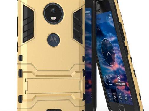 GSMWise Motorola Moto G5 - Hybride Hardcase Stevig Hoesje met Standaard - Goud