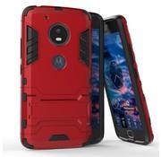 GSMWise Motorola Moto G5 - Hybride Hardcase Stevig Hoesje met Standaard - Rood