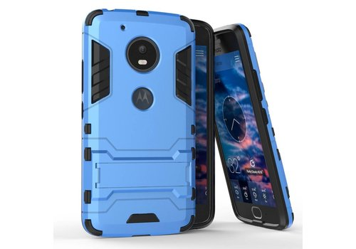 Motorola Moto G5 - Hybride Hardcase Stevig Hoesje met Standaard - Blauw